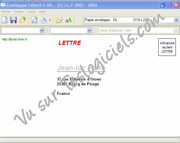 Enveloppes Editor